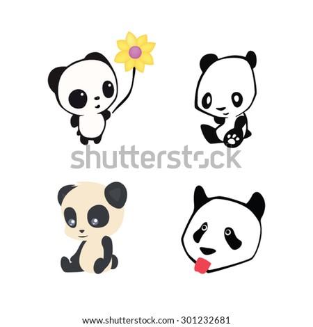 Panda Baby Vector de stock (libre de regalías)301232681; Shutterstock