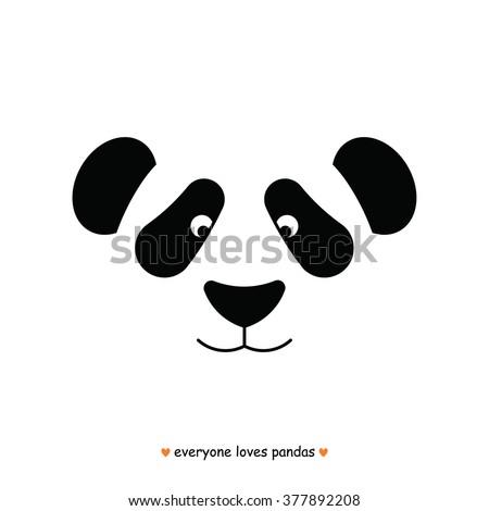 panda bear face logo vector panda stock vector royalty free