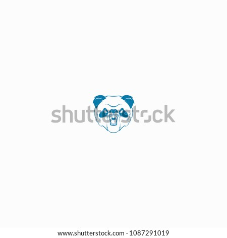 panda bear logo design vector template stock vector royalty free