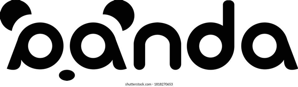 Panda bear silhouette Logo design vector template, inspiration, illustration