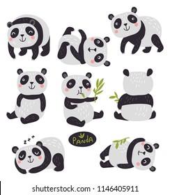 Panda cute set