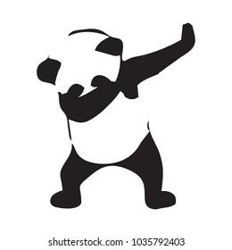 Panda dab vector logo