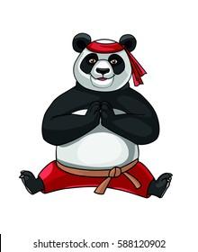 Panda doing splits. Vector.