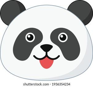 Panda Face vector art and illustration
