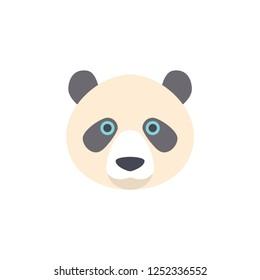 panda head cartoon vector
