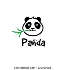 Panda Head Logo / Cute Panda Character Vector