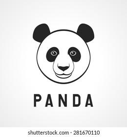 Panda head. Vector illustration