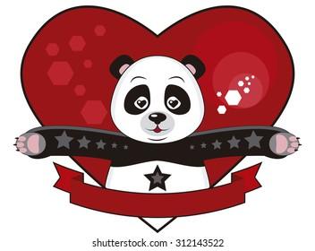 Panda hug - Panda with open arms for a hug