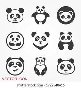 Panda icon. Vector image of a panda