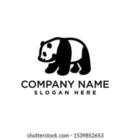 panda logo design template inspiration, vector illustration