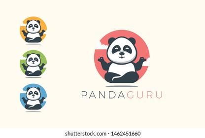 Panda logo is shaped like one who is meditating