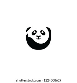 panda logo template download graphic abstrack