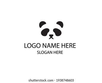 PANDA LOGO VECTOR BLACK AND WHITE LOGO FOR ZOO