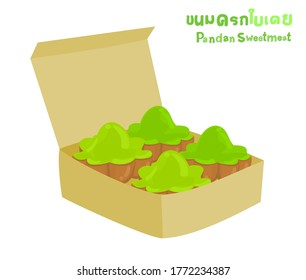 "Pandan Sweetmeat in Thai Language it mean ""Pandan Sweetmeat"""
