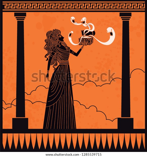 Pandora Opening Box Stock Vector Royalty Free 1285539715