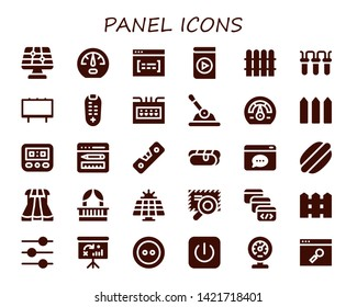 panel icon set  30 filled panel icons  simple modern icons about - solar  panel