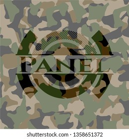 Panel on camouflage pattern