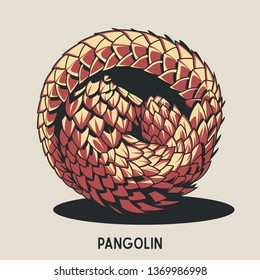 Pangolin Drawing Isolated Art