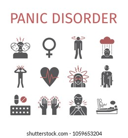 Panic disorder icon infographic. Vector illustration