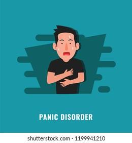 Panic disorder. Psychological disorder. Mental health illustration