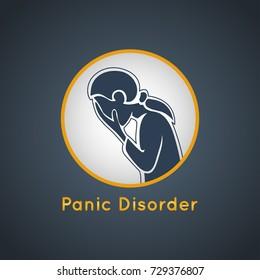 Panic Disorder vector icon illustration
