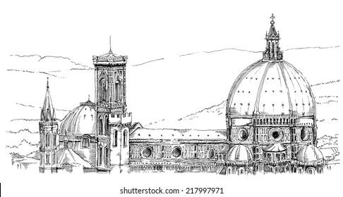 panorama of Duomo, Florence