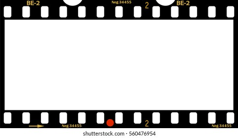 panorama frame of film, photo frame, free space for your pix