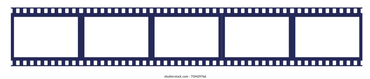 panorama frames of video and photos. illustration for your design. vector horizontal orientation
