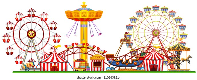 A Panorama of Fun Fair illustration