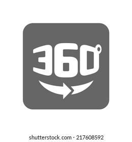 Panorama logo. Full 360 degree rotation icon.
