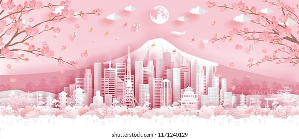 Origami Sakura Flower Stock Illustrations, Images & Vectors