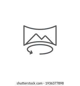 panorama view mode outline icon linear style sign for mobile concept and web design panoramic