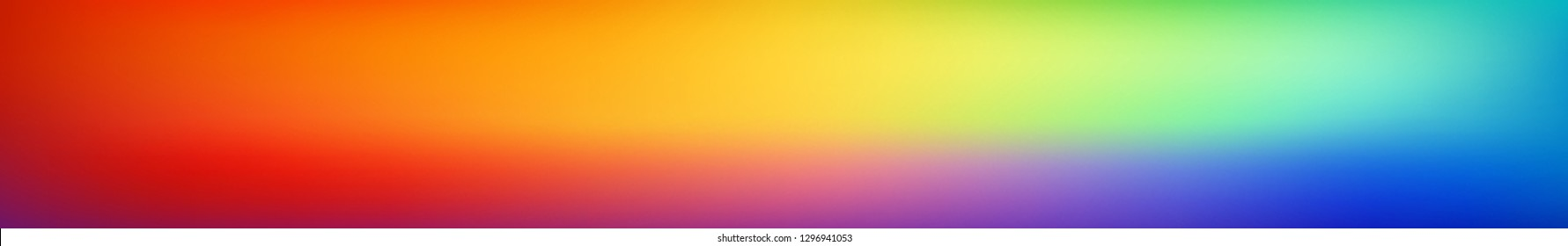 Panoramic smooth and blurry colorful gradient mesh background.  Horizontal view for a glass panels - skinali. Bright rainbow colors. Easy editable soft colored vector template. Premium quality.