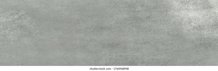 Panoramic texture of realistic gray concrete - Vector illustration