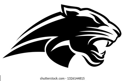 Panther Head Fast black vector