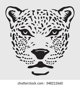 Panther head illustration, t-shirt graphics, vectors, typography,