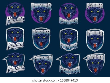 panther head mascot logo dark 260nw