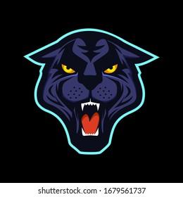 Panther head mascot logo illustration