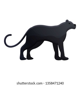Panther icon. Cartoon of panther vector icon for web design isolated on white background
