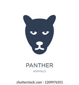 Panther icon. Trendy flat vector Panther icon on white background from animals collection, vector illustration can be use for web and mobile, eps10