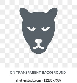 Panther icon. Trendy flat vector Panther icon on transparent background from animals collection.