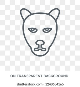 Panther icon. Trendy flat vector Panther icon on transparent background from animals collection. High quality filled Panther symbol use for web and mobile