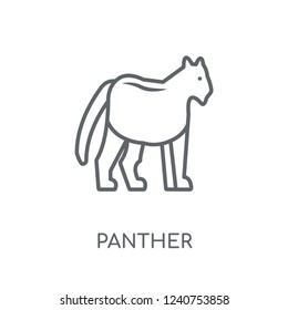 Panther linear icon. Modern outline Panther logo concept on white background from animals collection. Suitable for use on web apps, mobile apps and print media.