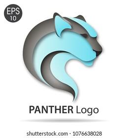 Panther logo color vector illustration