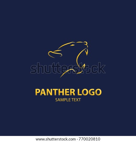 panther logo vector design luxury stock vector royalty free