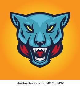 Panther Mascot Vector Logo Emblem
