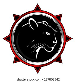 Panther on a black background