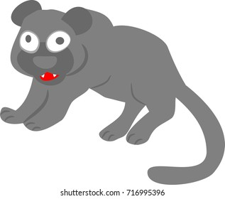 Panther ready for attack vector illustration