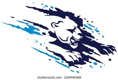 Panther splash ragged icon design vector