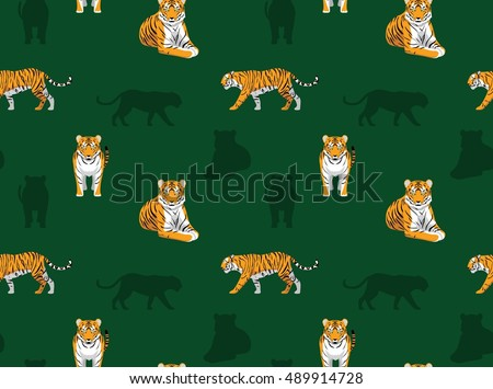 Panthera Bengal Tiger Wallpaper Stock Vector Royalty Free